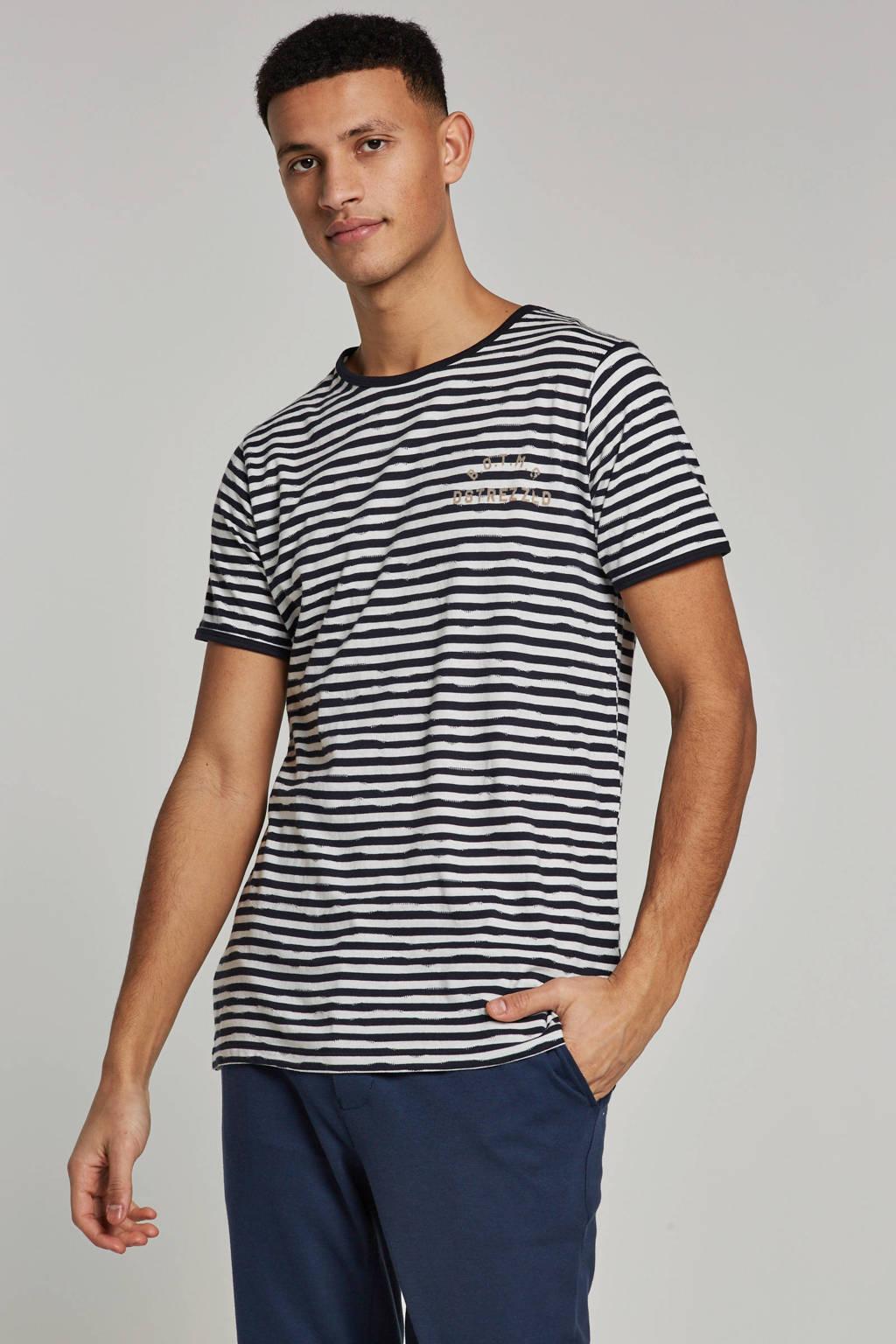 Dstrezzed T-shirt, Blauw/wit