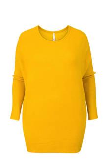 Plus sweater geel