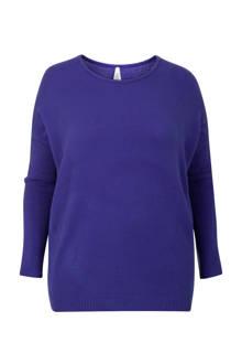 Plus sweater blauw