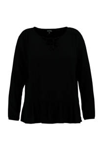 FSTVL by MS Mode top zwart (dames)