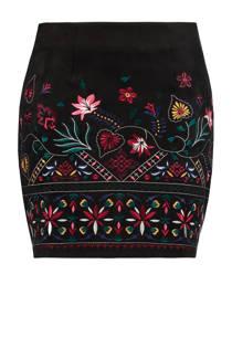 FSTVL by MS Mode rok met borduursels zwart (dames)