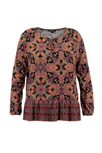 FSTVL by MS Mode top met allover dessin (dames)