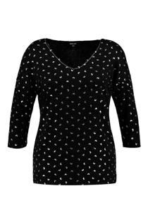 MS Mode trui met allover print zwart (dames)