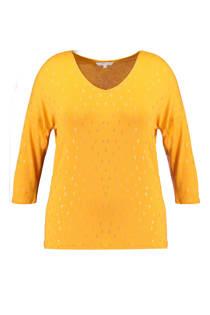 MS Mode trui met allover print geel (dames)