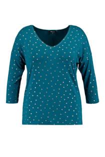 MS Mode trui met allover print blauw (dames)