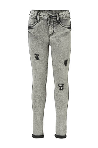 Here & There high waist skinny jeans grijs