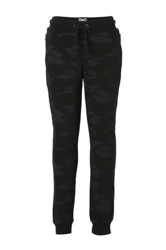 Here & There   joggingbroek met camouflageprint zwart