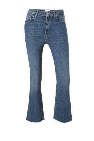 cropped flared jeans blauw