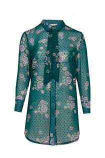 Belloya blouse met bloemenprint groen (dames)