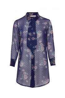 Belloya blouse met bloemenprint paars (dames)