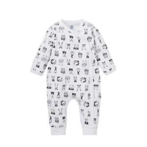 newborn baby boxpak met dierenprint wit/ zwart
