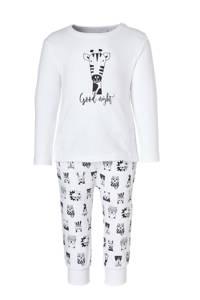 whkmp's own beasty   newborn baby pyjama, wit/ zwart