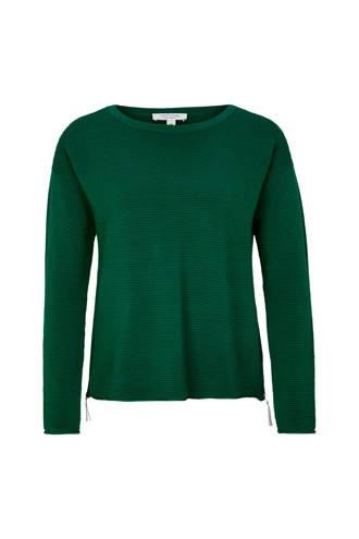 sweater met ribstof groen