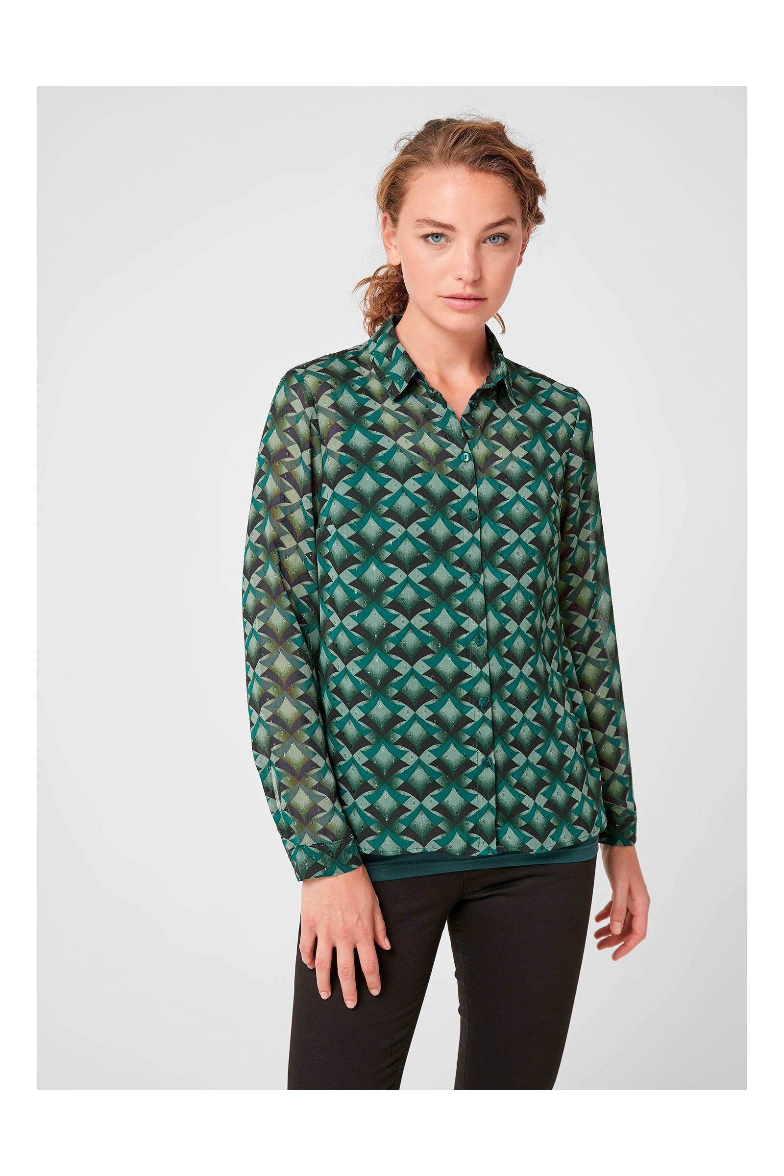 86277ad21872be designed groen met print QS grafische blouse wehkamp by Tdw1FqY