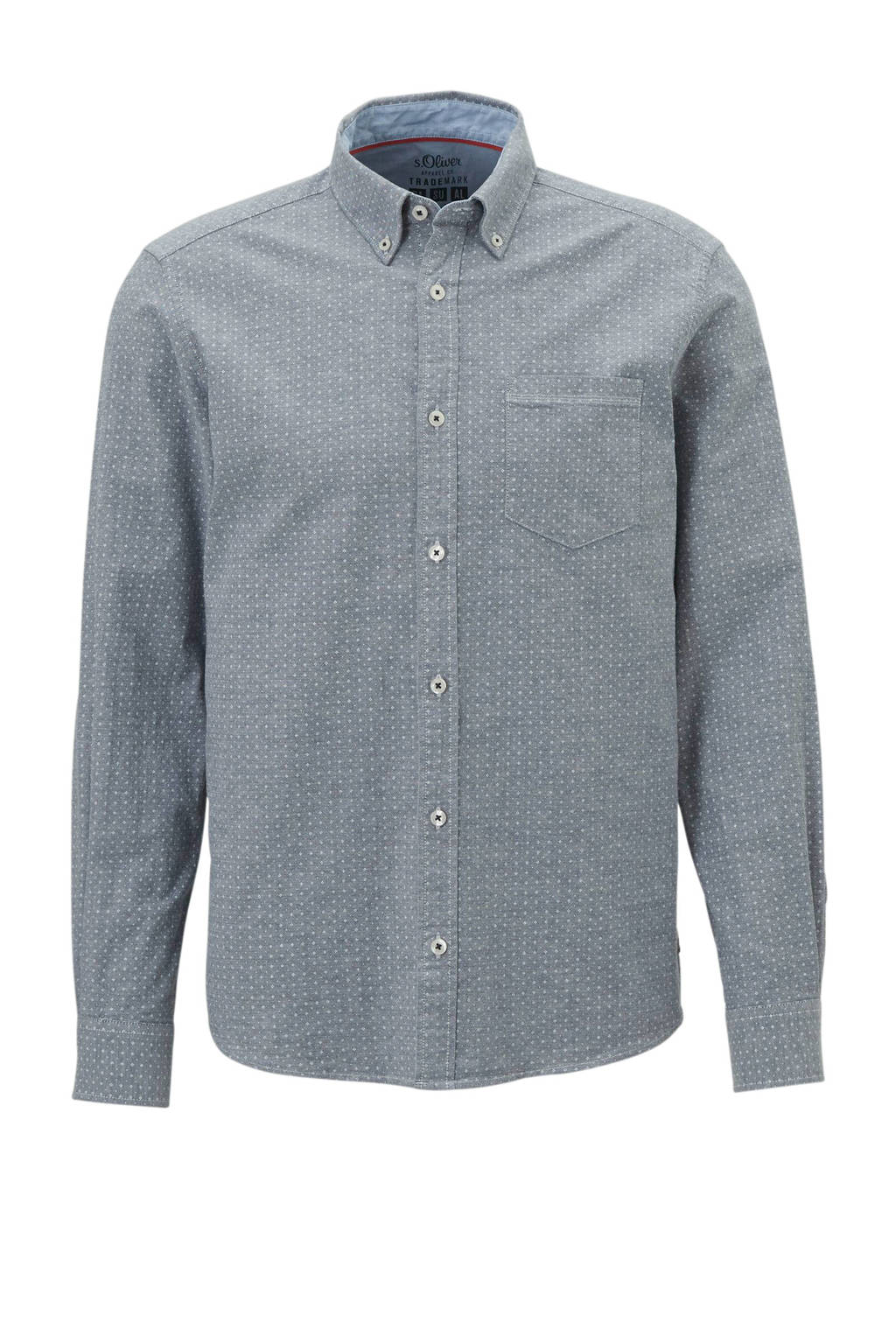 s.Oliver regular fit overhemd, Blauw
