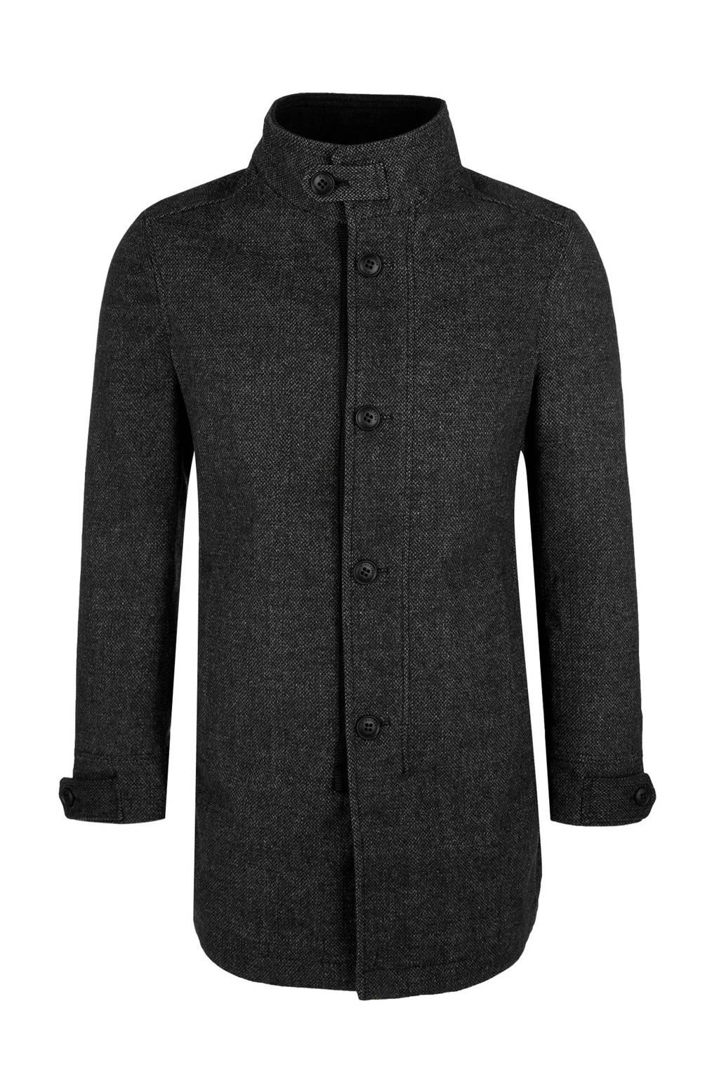 s.Oliver coat met wol antraciet, Antraciet