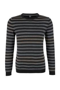 s.Oliver gestreepte trui zwart (heren)