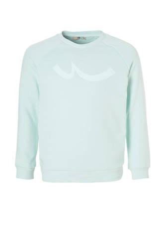 sweater Pizado met print lichtblauw
