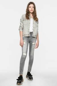 LTB super skinny 7/8 fit jeans Lonia met slijtage details grijs, Grijs (Silvermoon wash)
