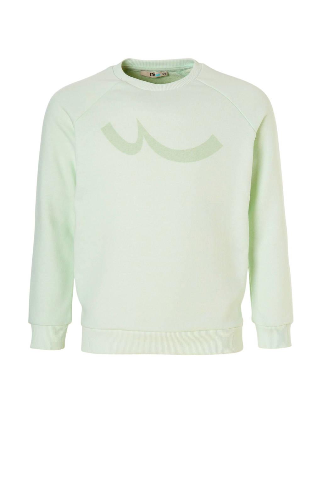 LTB sweater Pizado met printopdruk mintgroen, Mintgroen