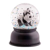 A Little Lovely Company sneeuwbol Panda, Zwart