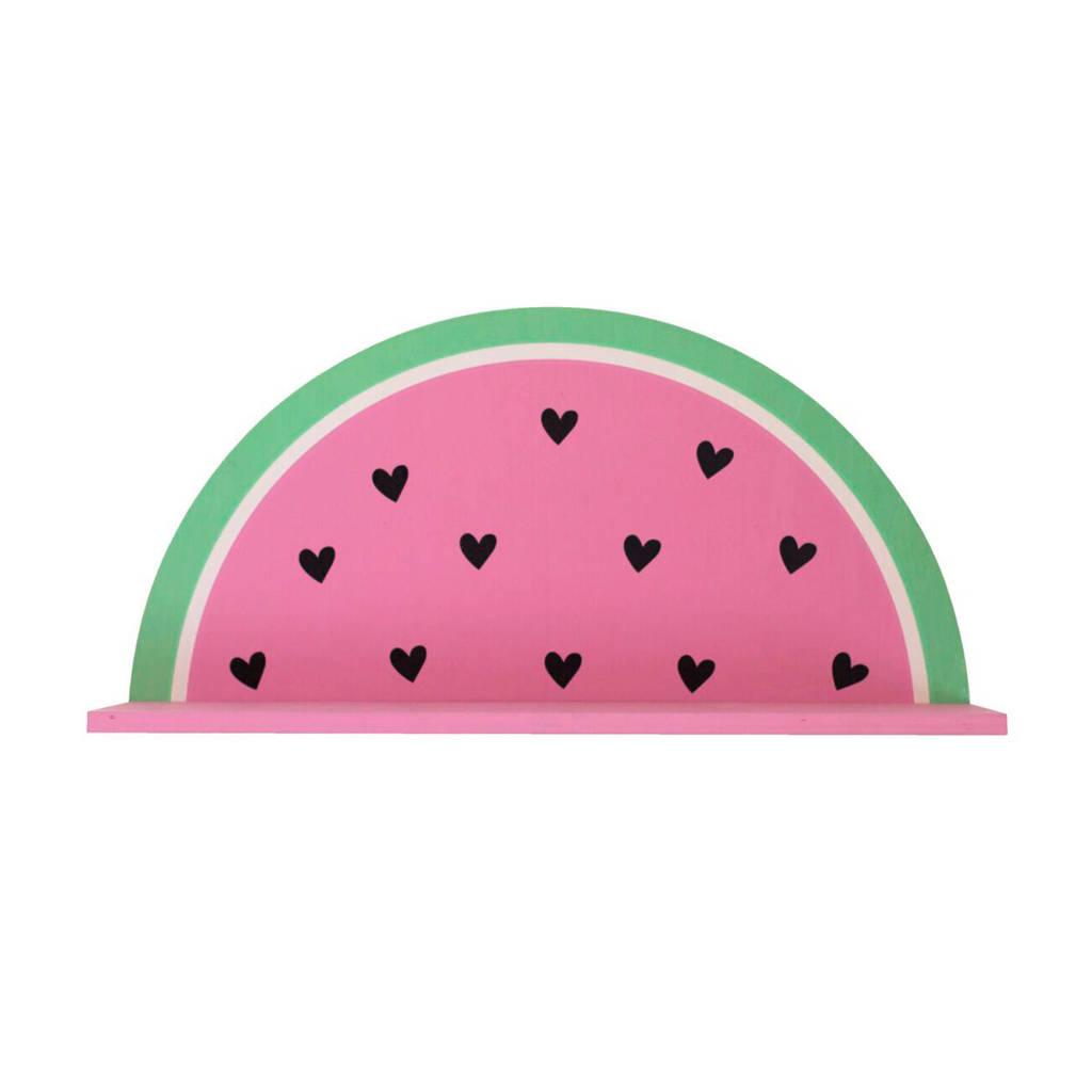 A Little Lovely Company wandplank Watermeloen, Roze