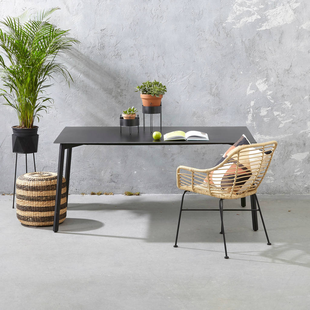 whkmp's own tuintafel (160x90 cm ) Cadiz, Zwart