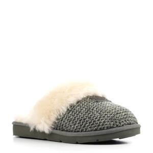 Cozy Knit pantoffels grijs