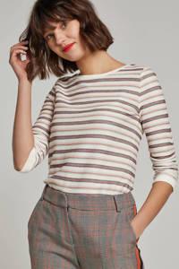Summum Woman geruite slim fit pantalon, Oranje/grijs/zwart