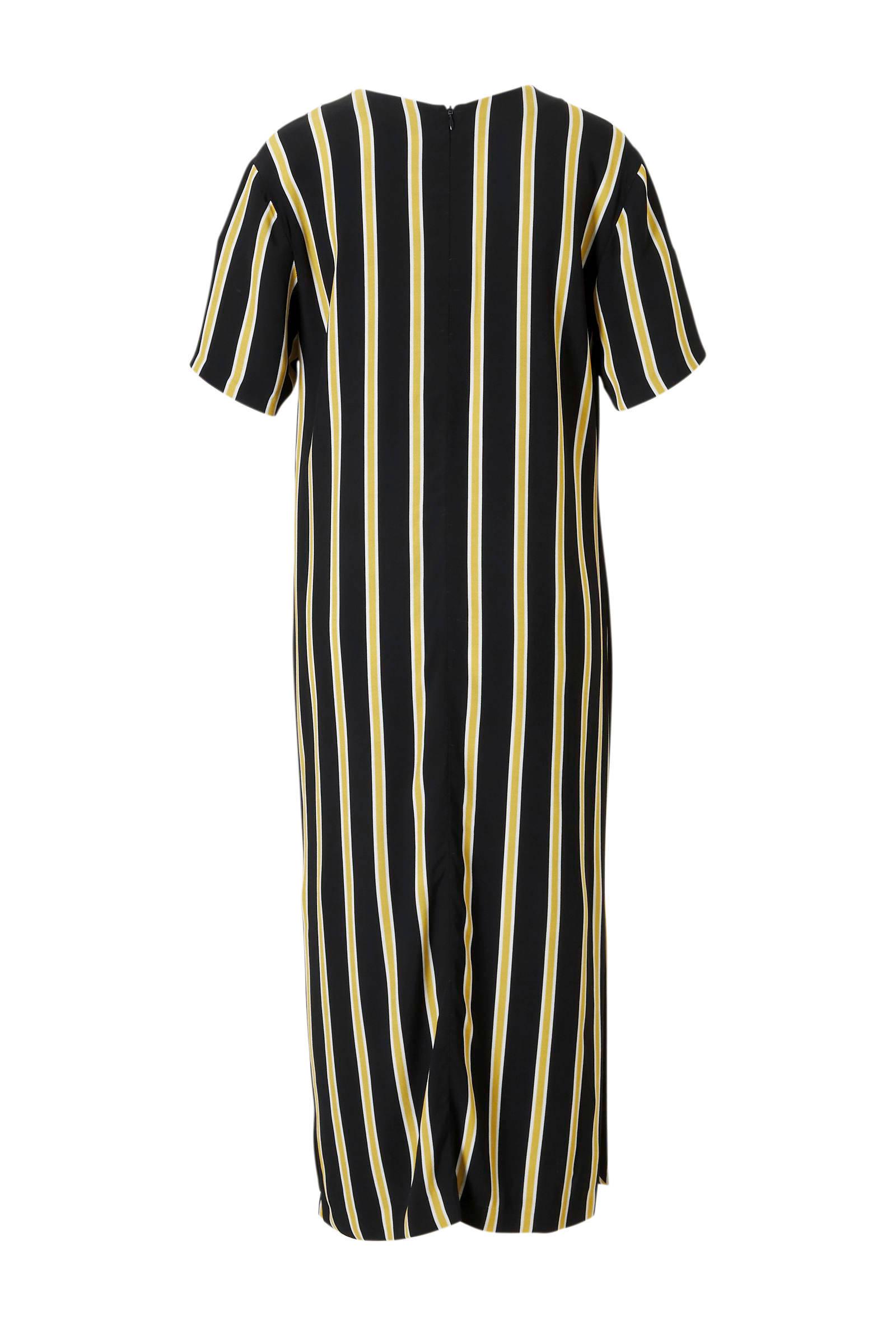 970fffe31f3b91 Summum Woman gestreepte jurk zwart