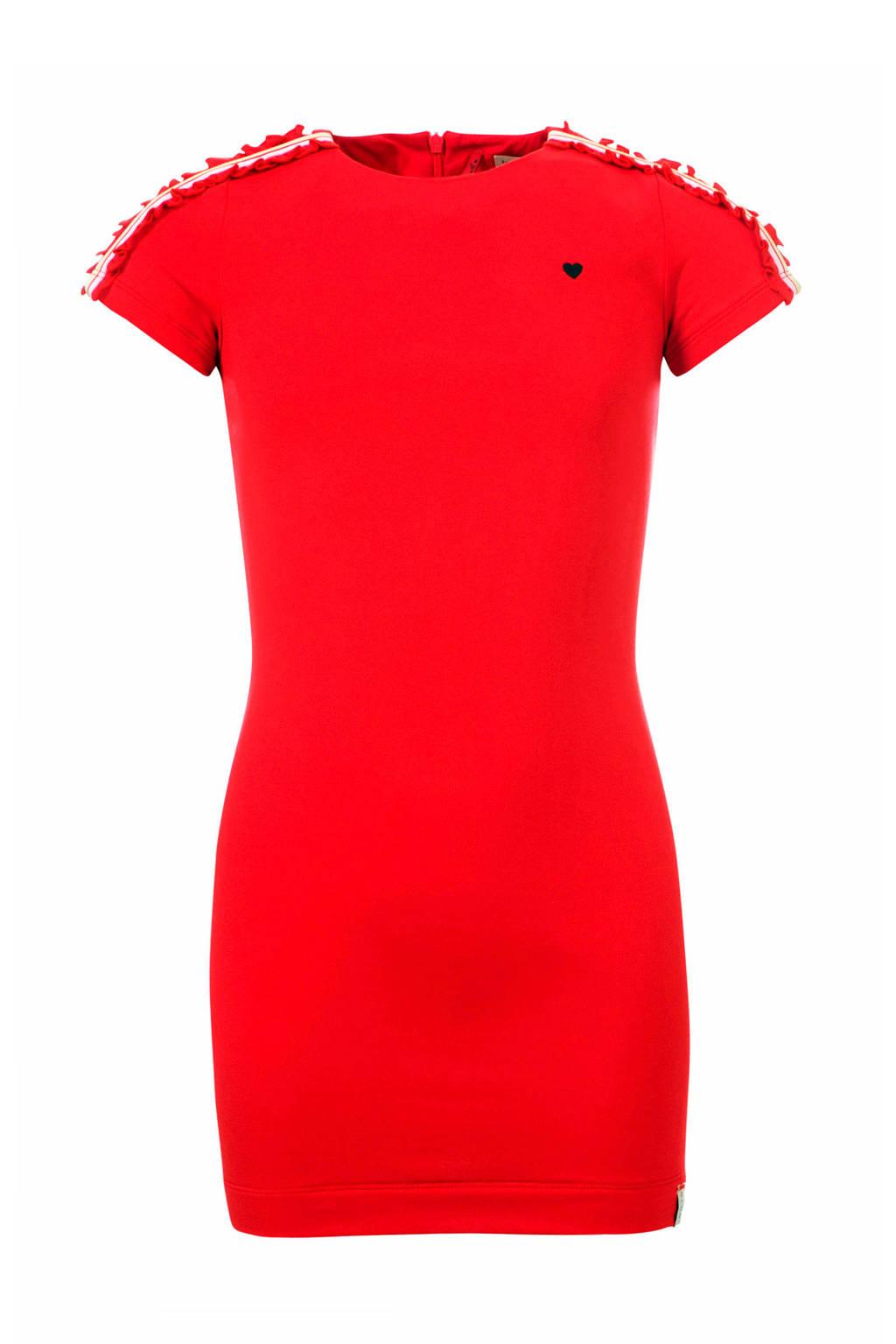 LOOXS Little jurk met contrastbies rood, Rood