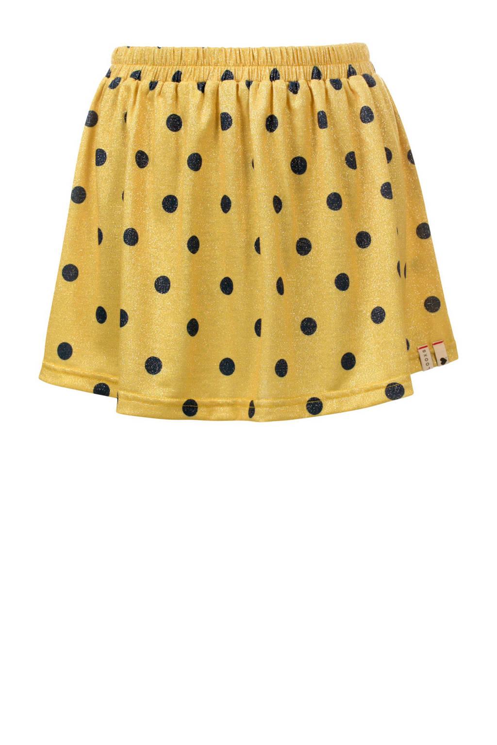LOOXS rok met stippen geel, Geel/donkergrijs