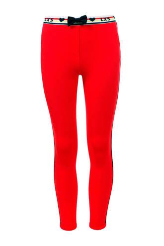 Little broek met contrastbies rood