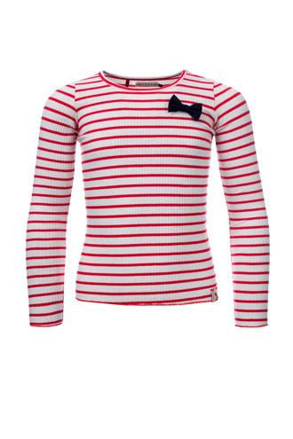 Little gestreept T-shirt rood/wit
