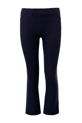 skinny fit broek met flared pijpen donkerblauw