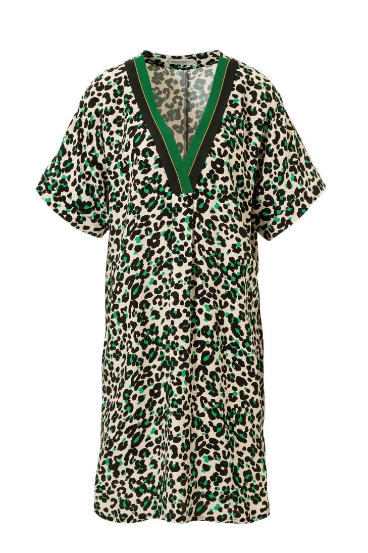 Summum jurk Woman groen panterprint met P78PnR4rq