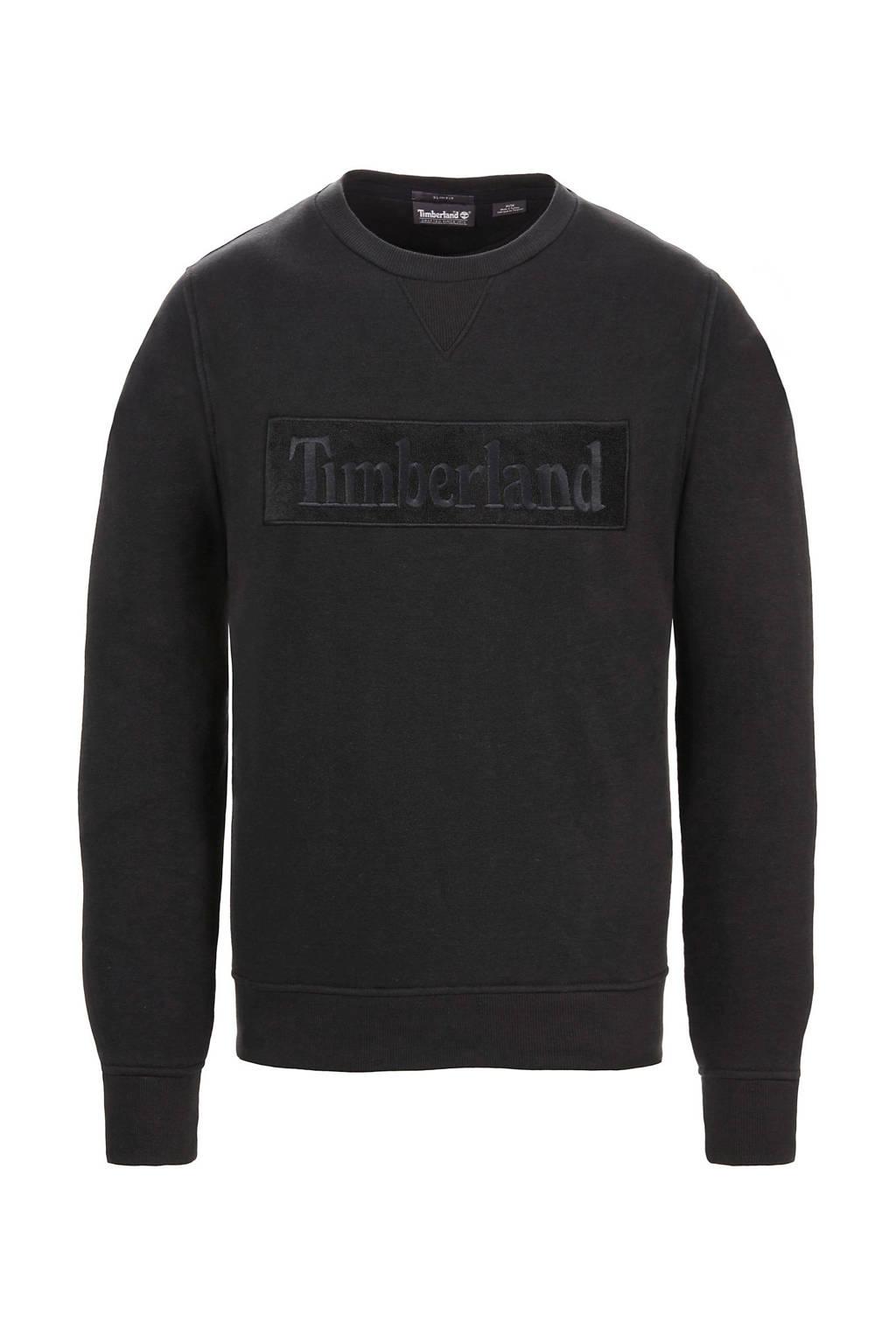 Timberland sweater met logo zwart, Zwart