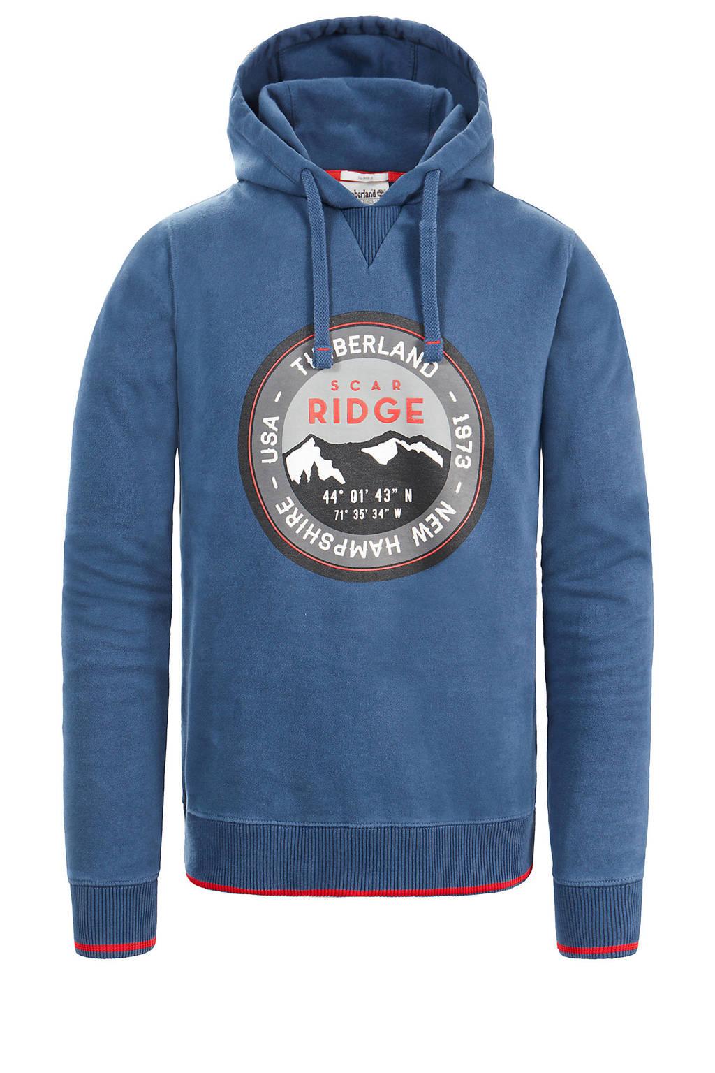 Timberland hoodie met printopdruk blauw, Blauw