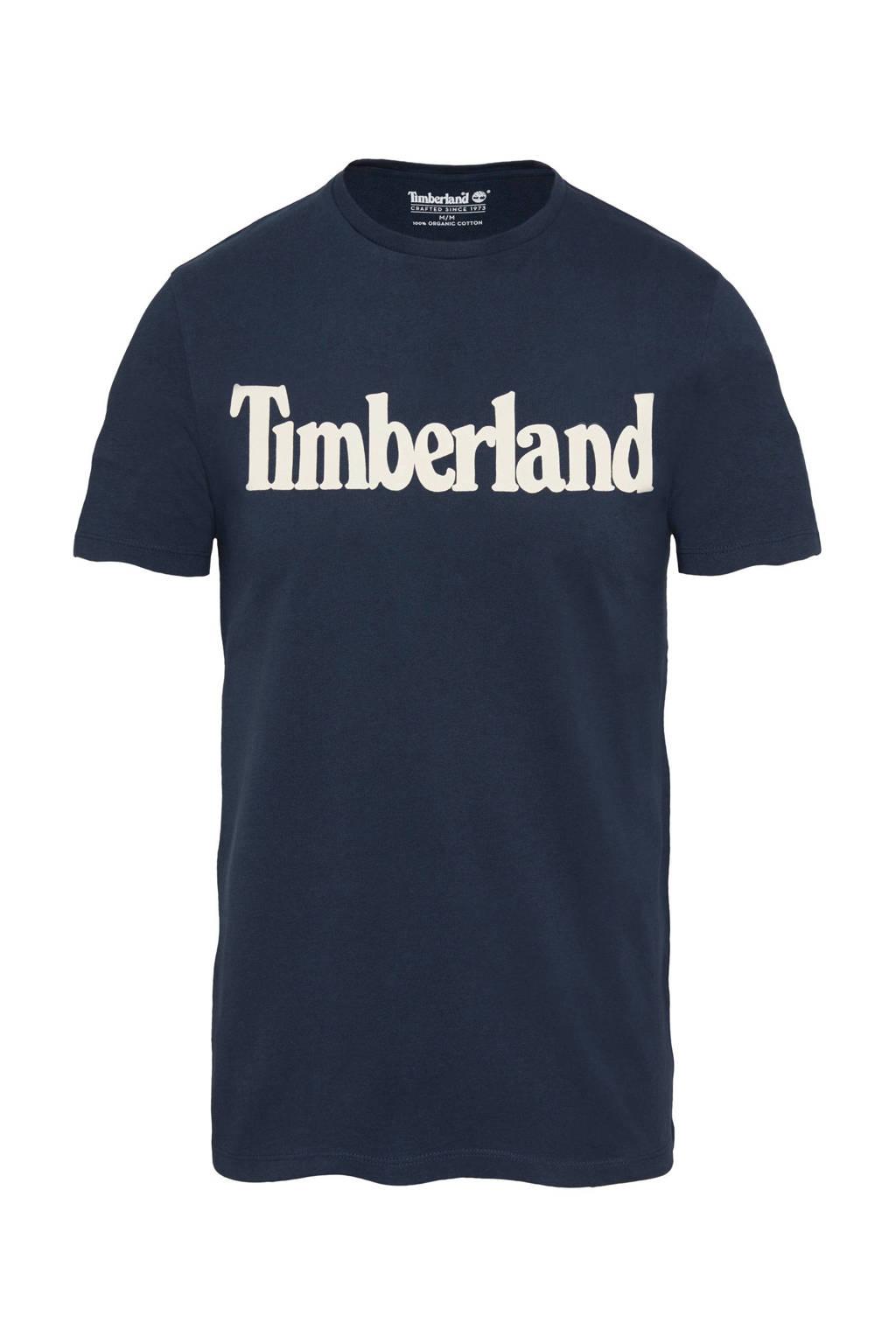 Timberland T-shirt met print donkerblauw, Donkerblauw