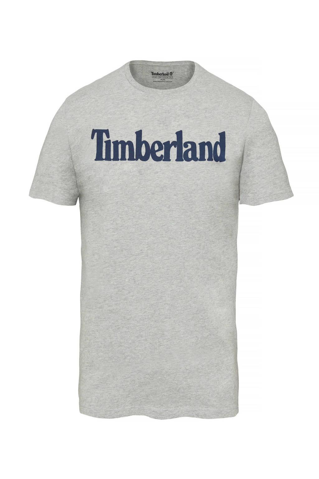 Timberland T-shirt met print grijs, Grijs