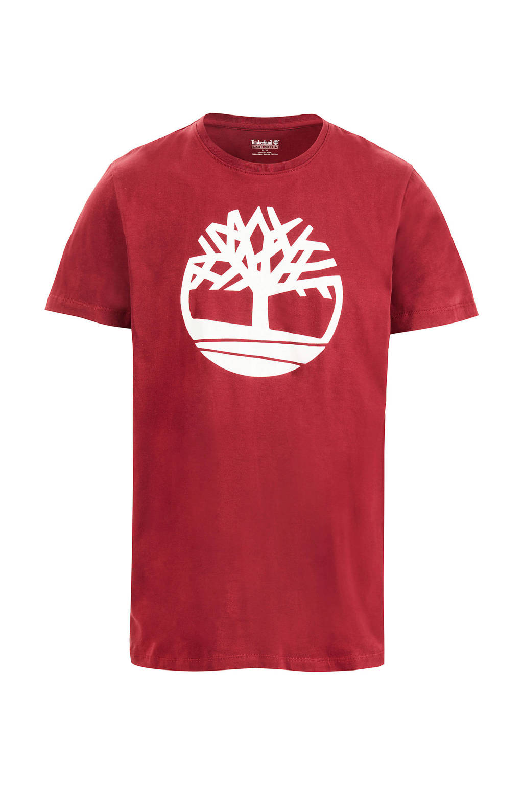 Timberland T-shirt met print rood, Rood/wit