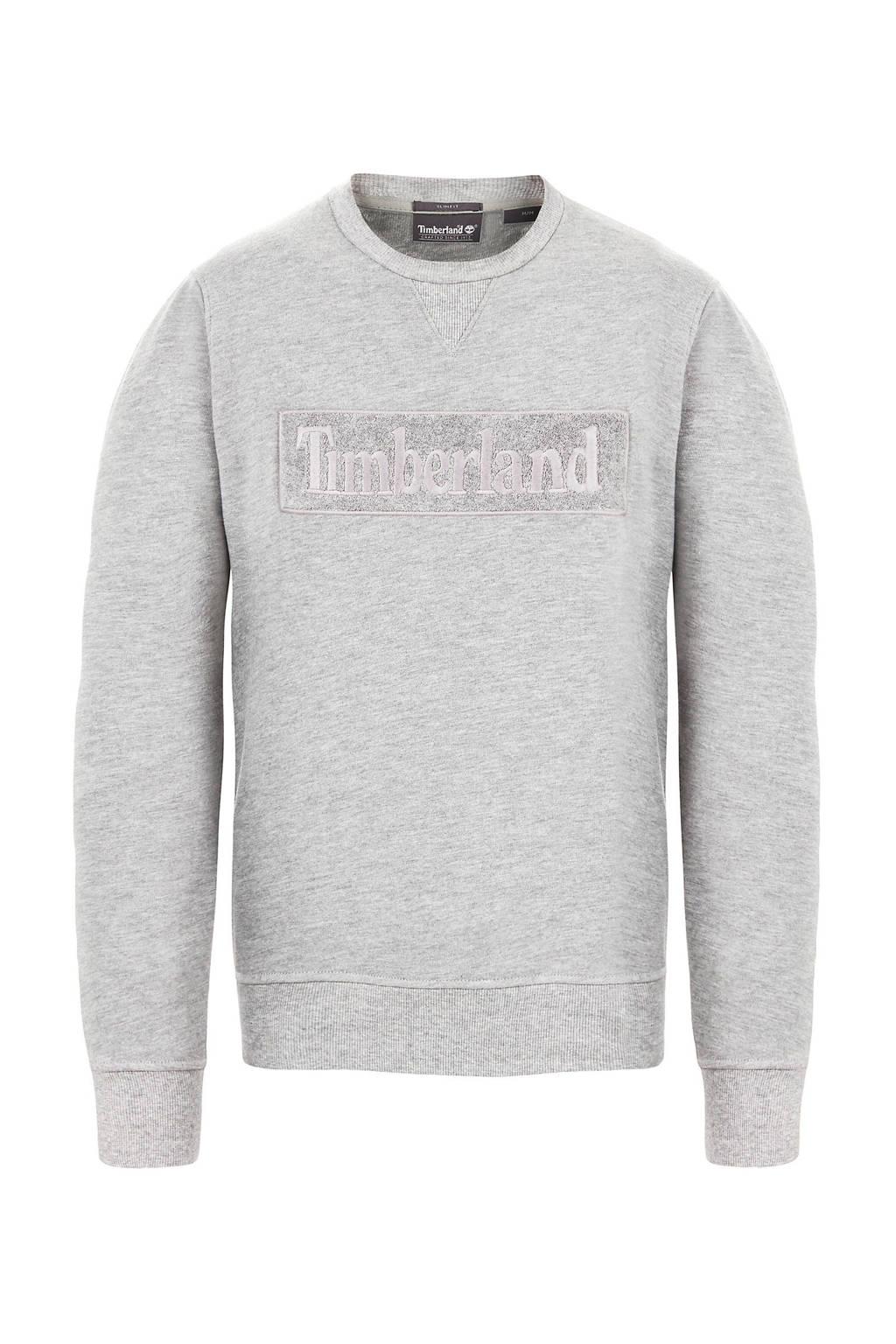 Timberland gemeêleerde sweater met logo grijs, Grijs