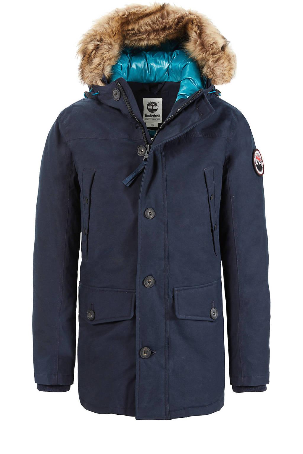 Timberland winterjas met dons donkerblauw, Donkerblauw