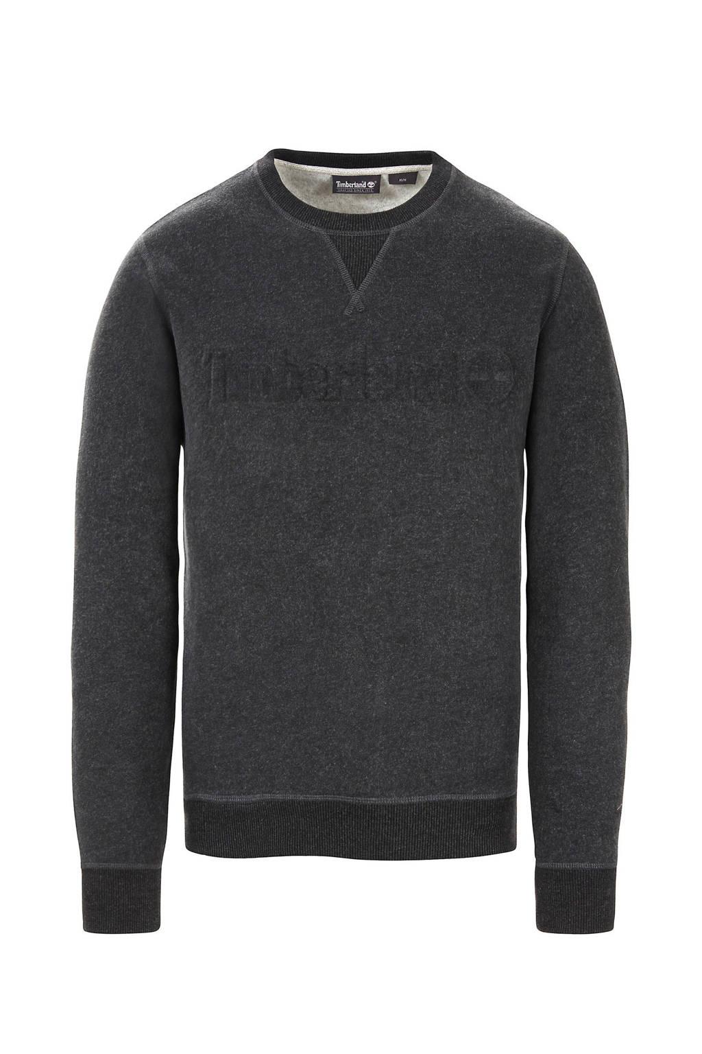 Timberland sweater met logo antraciet, Antraciet