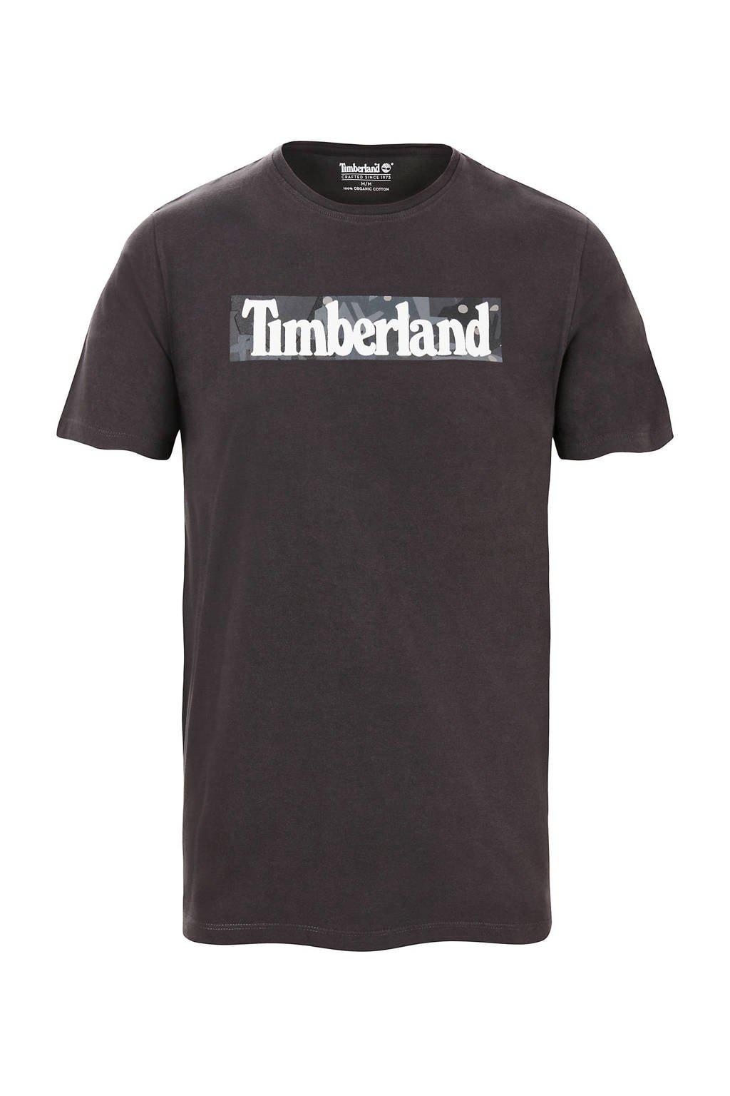 Timberland T-shirt met logo antraciet, Antraciet