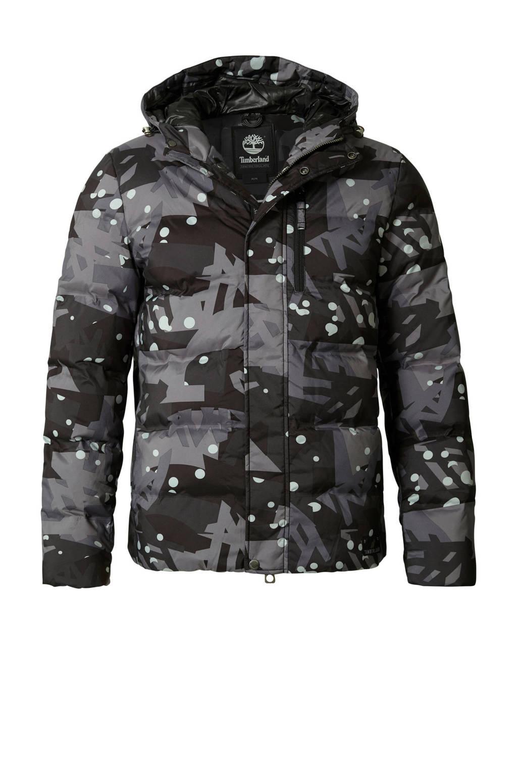 Timberland winterjas met dons grijs, Grijs/groen