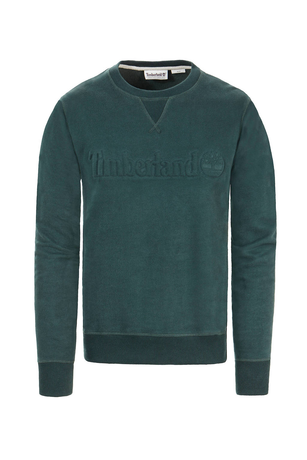 Timberland sweater met logo donkergroen, Donkergroen