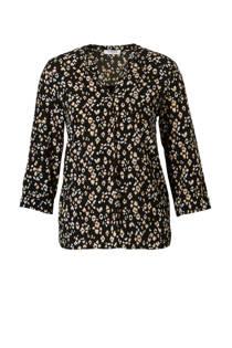 Pieces blouse met panterprint (dames)