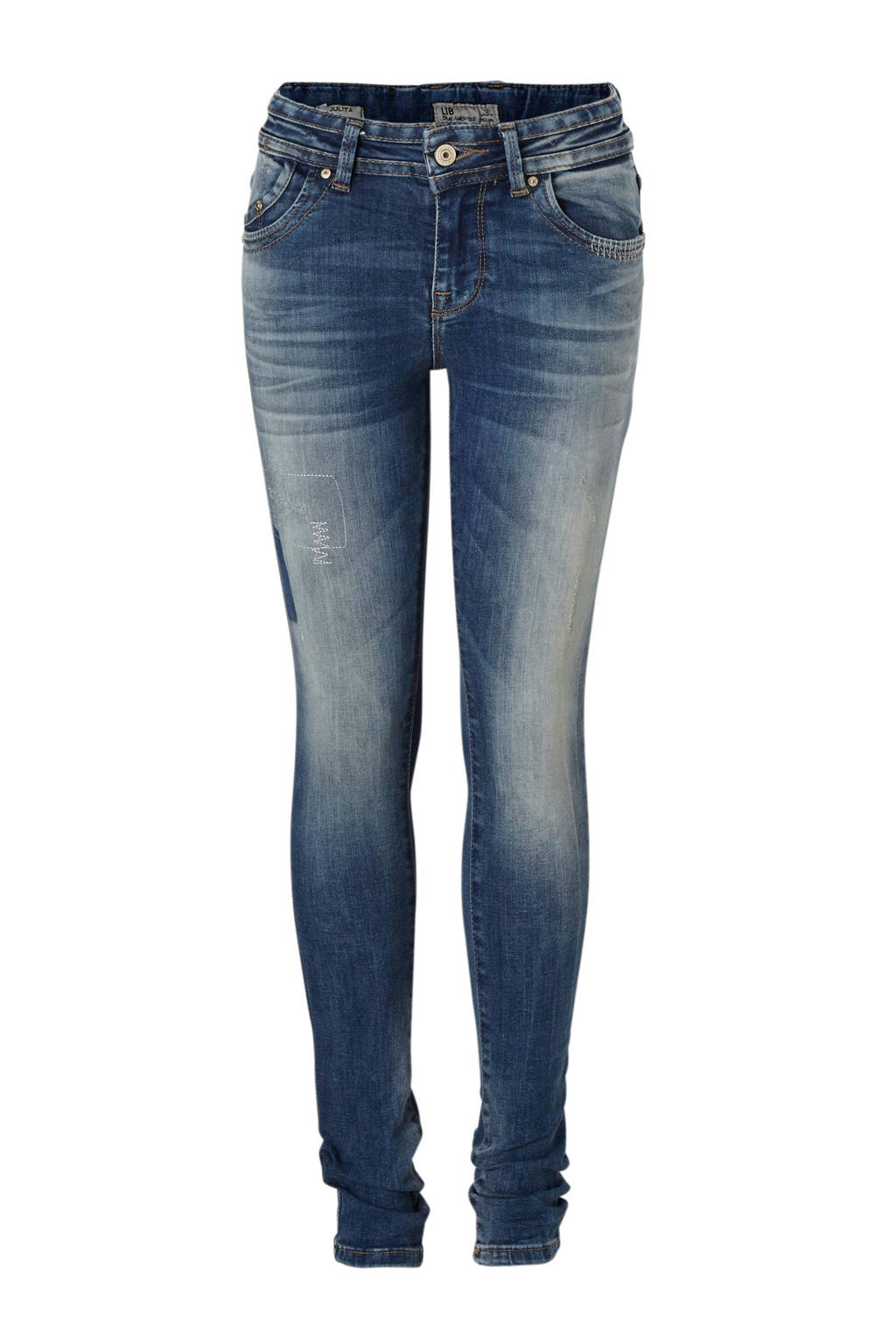 LTB super skinny fit jeans Julita grijs, Blauw (Nell wash)