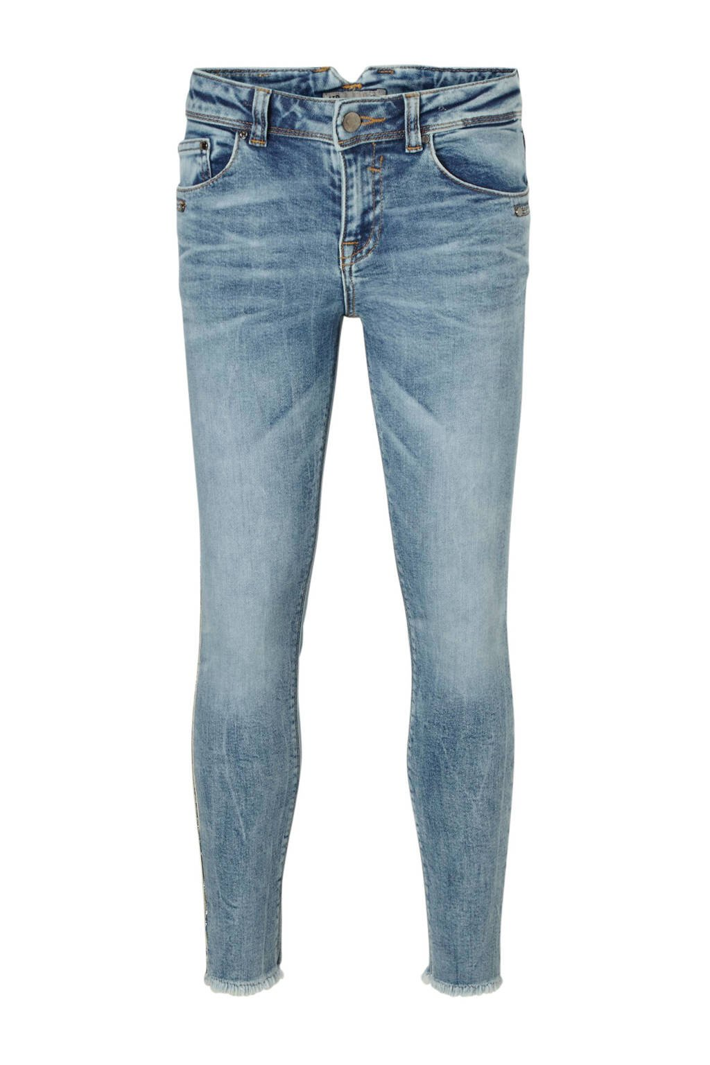 LTB skinny ankle fit jeans Georget met zijbies blauw, Blauw (Silver Myra wash)
